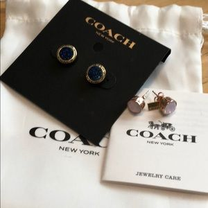 2 pair of coach earrings!!! FINAL PRICE